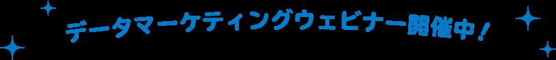 データマーケティングウェビナー開催中!