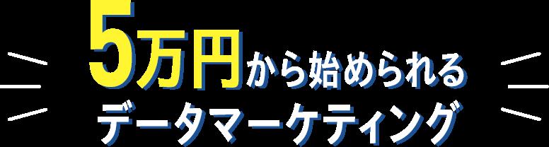 5万円から始められるデータマーケティング